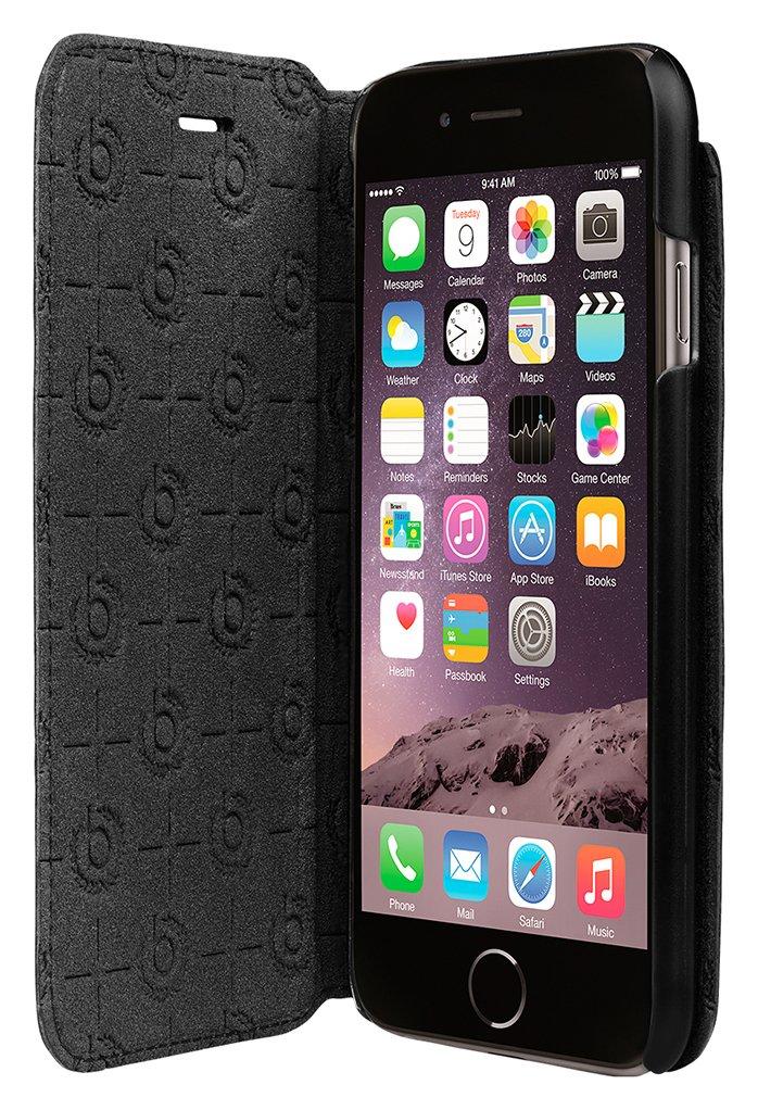 Image of Bugatti - iPhone - 7 Leather - Booklet Case - Black