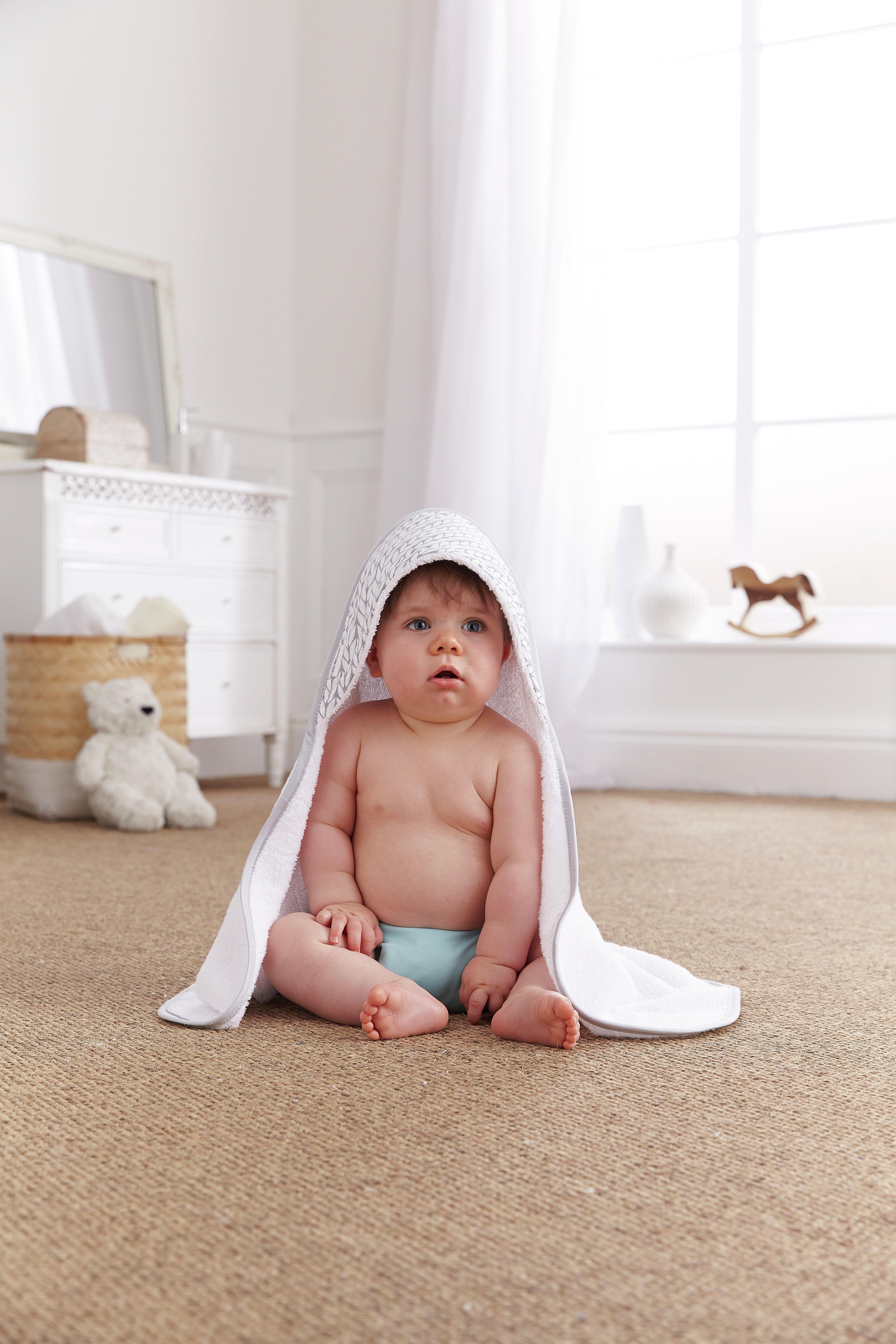 Image of Clair De Lune - Barley B?b? Hooded Baby Towel - Grey