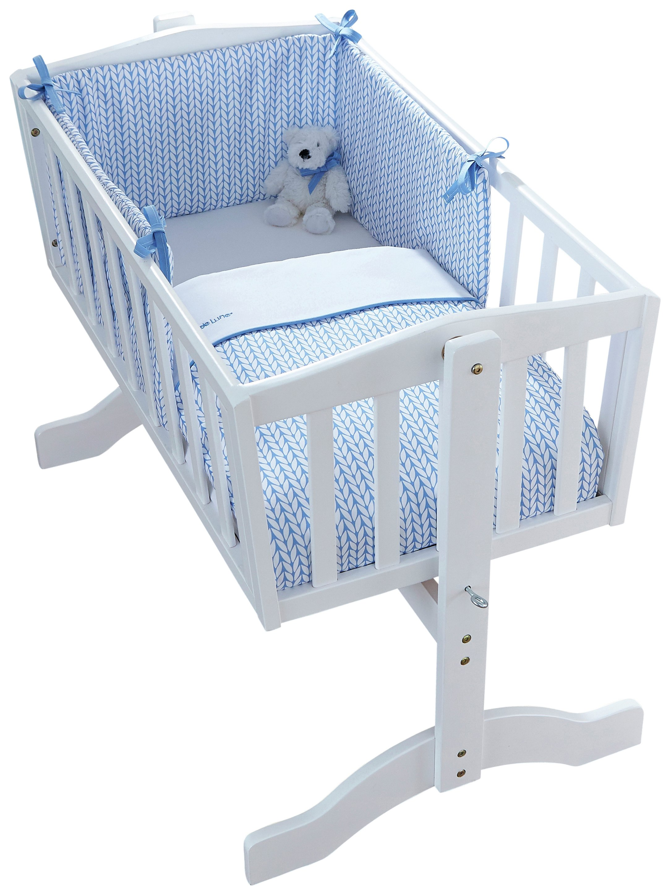 Image of Clair De Lune Barley B??b?? Crib Bedding Set - Blue.
