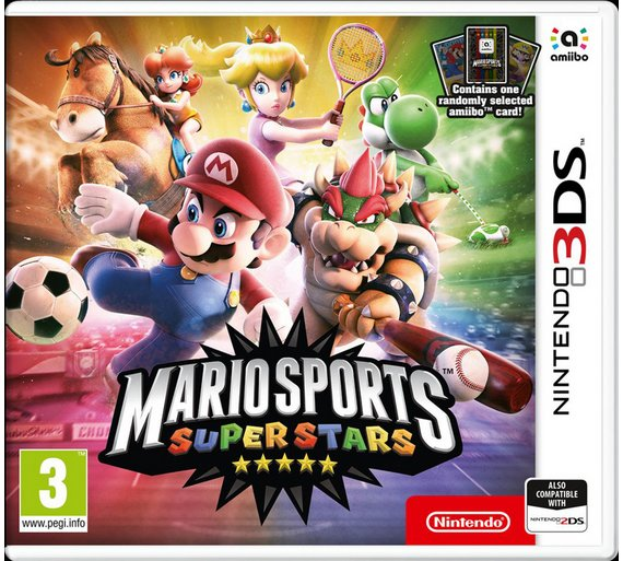 Mario Sports Superstars 3DS Game & amiibo card