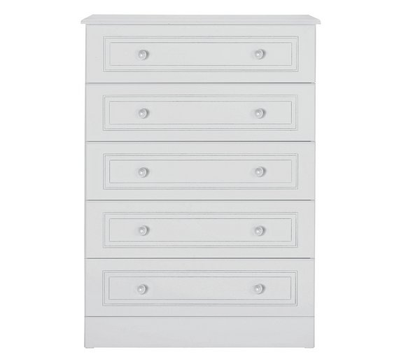buy collection stratford 5 drawer chest white at argos. Black Bedroom Furniture Sets. Home Design Ideas
