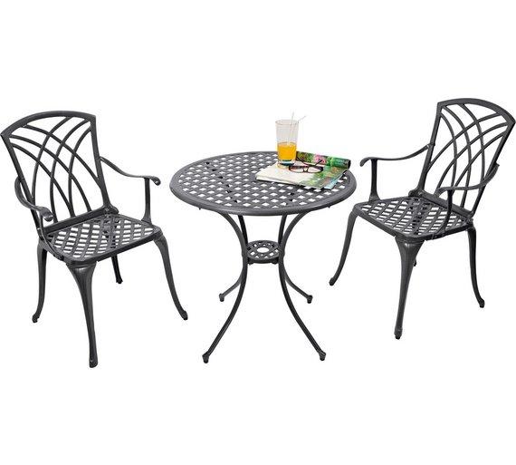 Buy Collection Porto 2 Seater Cast Aluminium Bistro Set | Garden ...