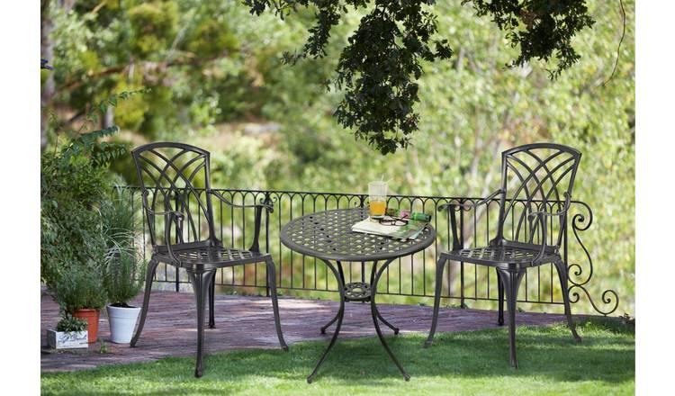 Argos Home Kensington 2 Seater Cast Aluminium Garden Bench Black