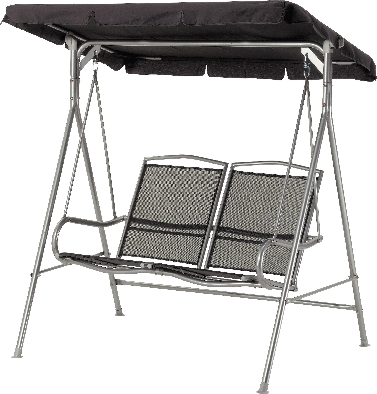 Image of Malibu - 2 Seater - Garden Swing Chair - Black