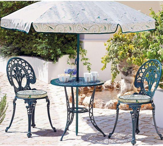 Collection Ascot 2 Seater Cast Alu Bistro Set. Buy Collection Ascot 2 Seater Cast Alu Bistro Set at Argos co uk