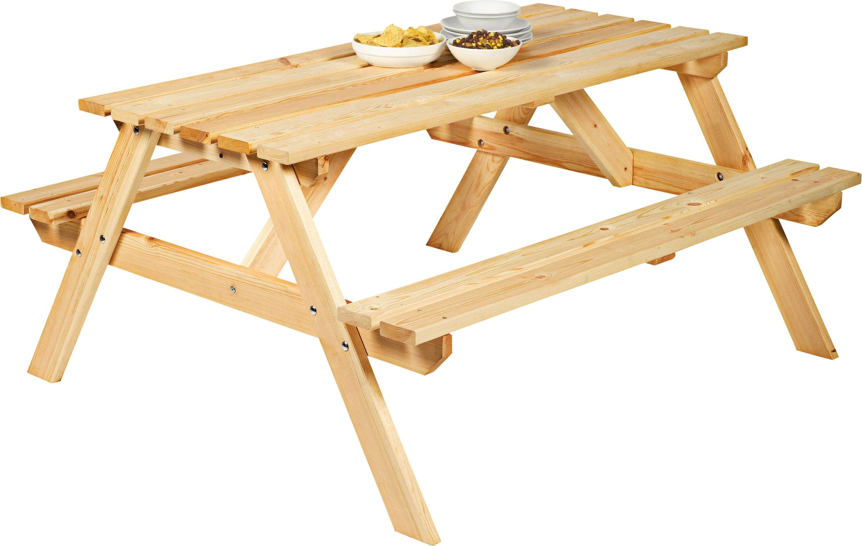 Argos Home Wooden 4 Seater Picnic Bench650/4225