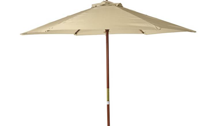 Argos Home 2m Water Repellent Garden Parasol - Cream