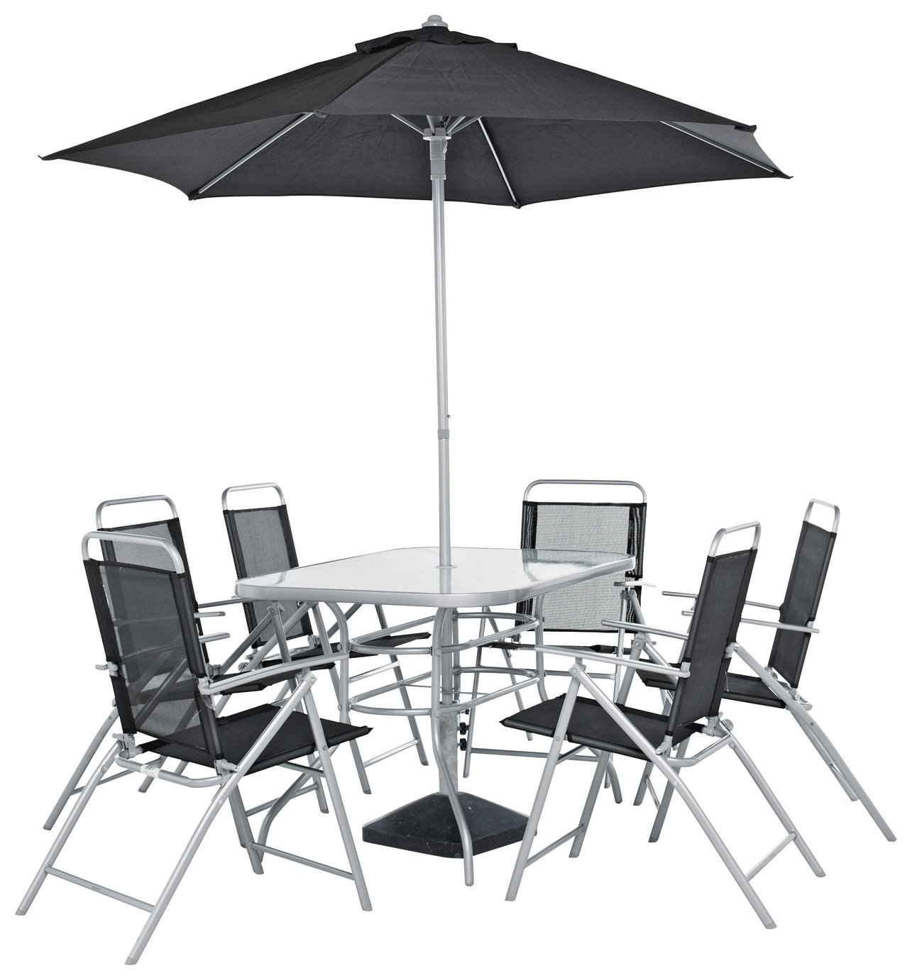 sale on home pacific 6 seater patio furniture set. Black Bedroom Furniture Sets. Home Design Ideas