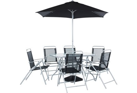 Image of the HOME Pacific 6 Seater Patio Furniture Set.