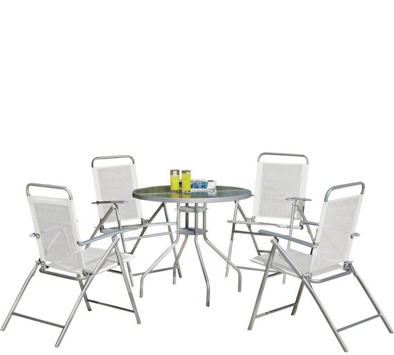 Argos Table And Chairs For The Garden: Buy Simple Value 4 Seater Patio Furniture Set At Argos.co