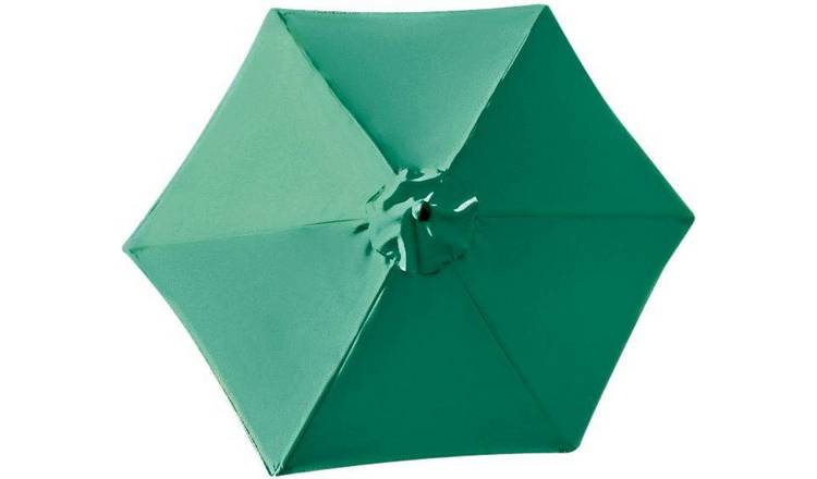 Argos Home 2.7m Water Repellent Garden Parasol - Green