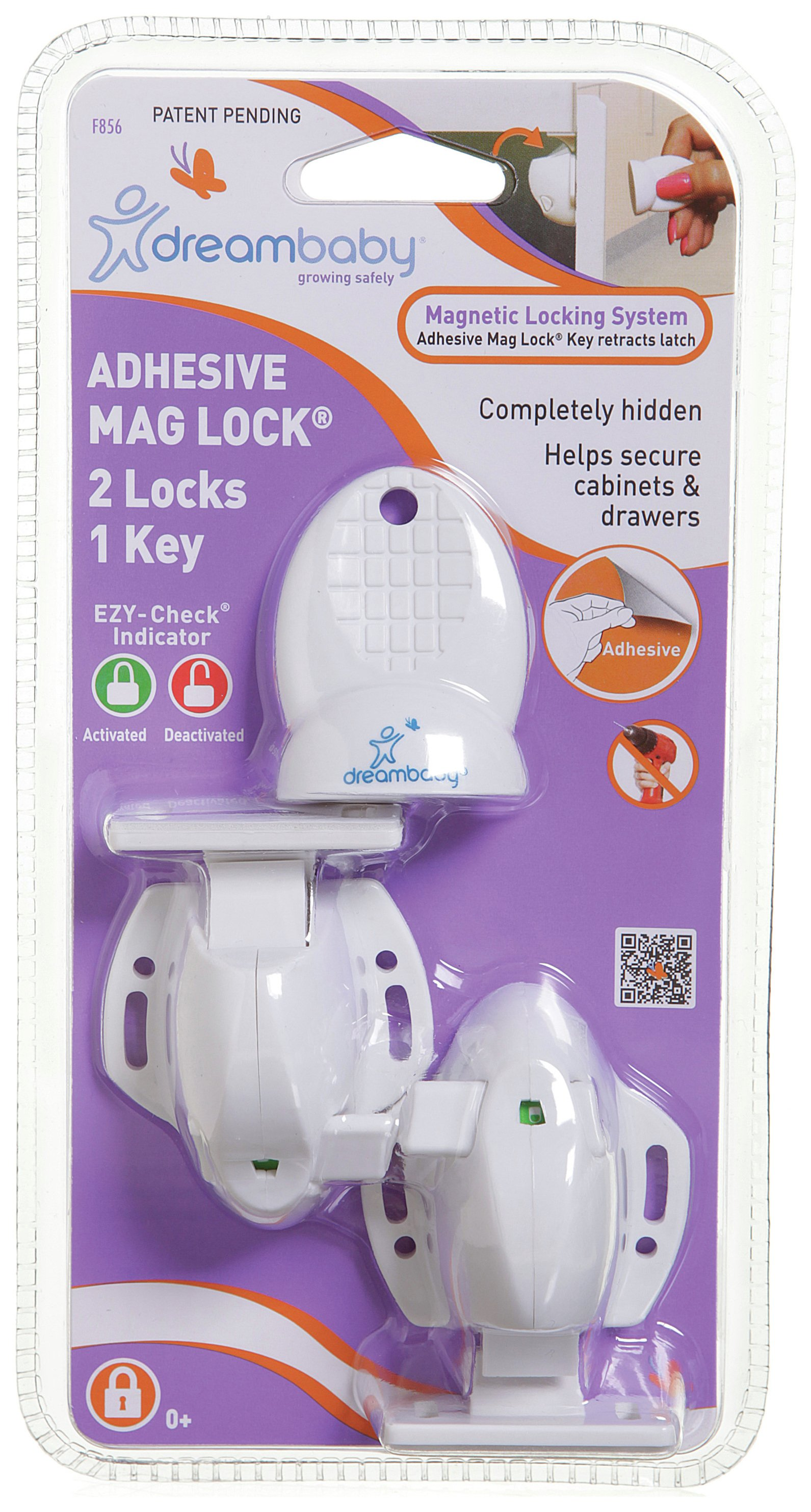 Image of Dreambaby - Adhesive Magnetic Lock - 2 Locks & 1 Key