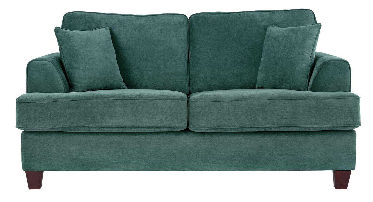 Argos Home Hampstead 2 Seater Fabric Sofa Bed - Ocean Blue