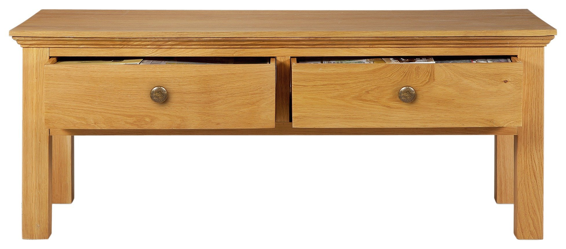 Argos Home Kingsbury Oak & Oak Veneer Coffee Table
