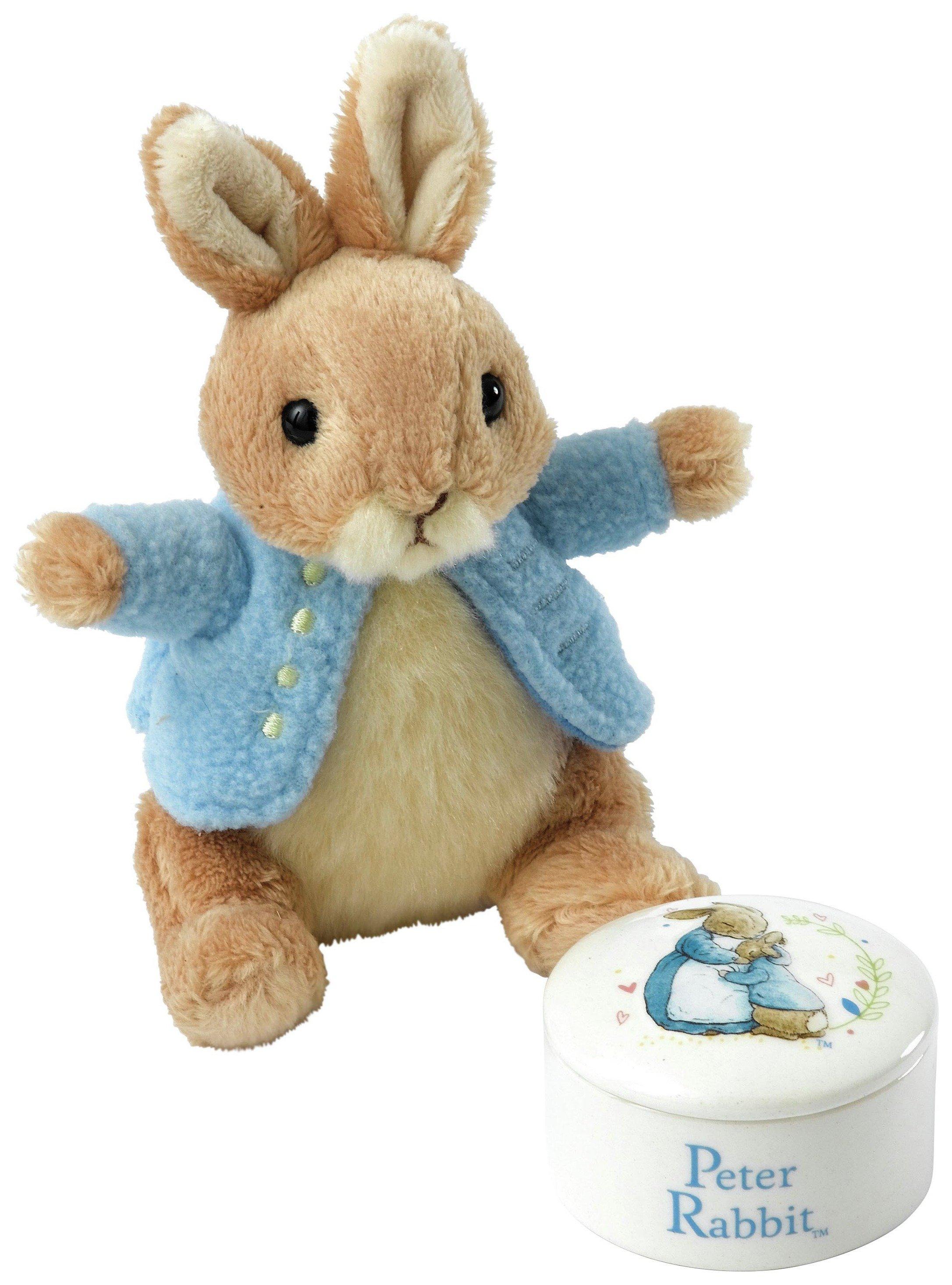 Image of Beatrix Potter - Peter - Rabbit Trinket & Soft Toy - Gift Set