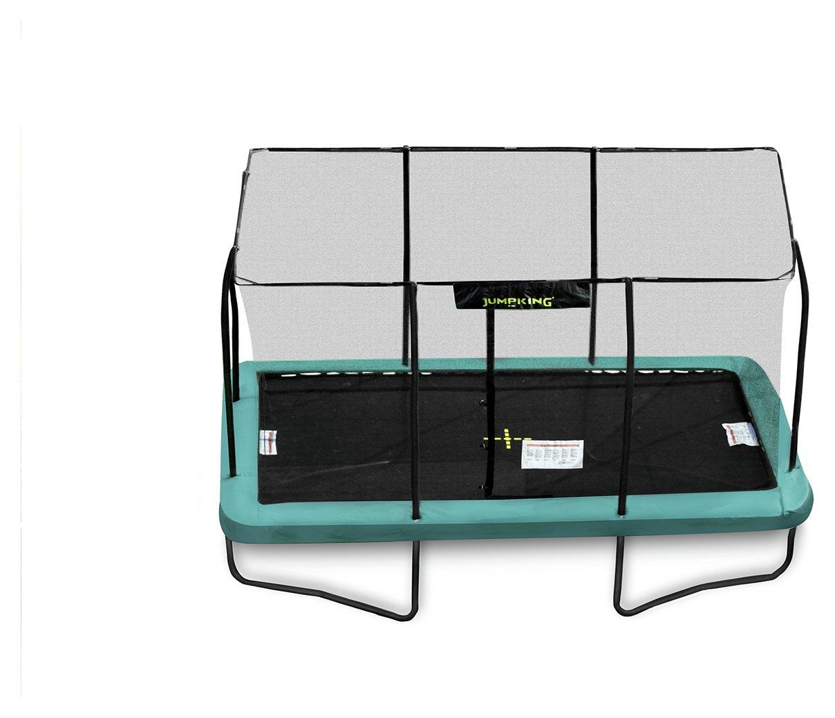 jumpking 10ft x 14ft rectangular trampoline.