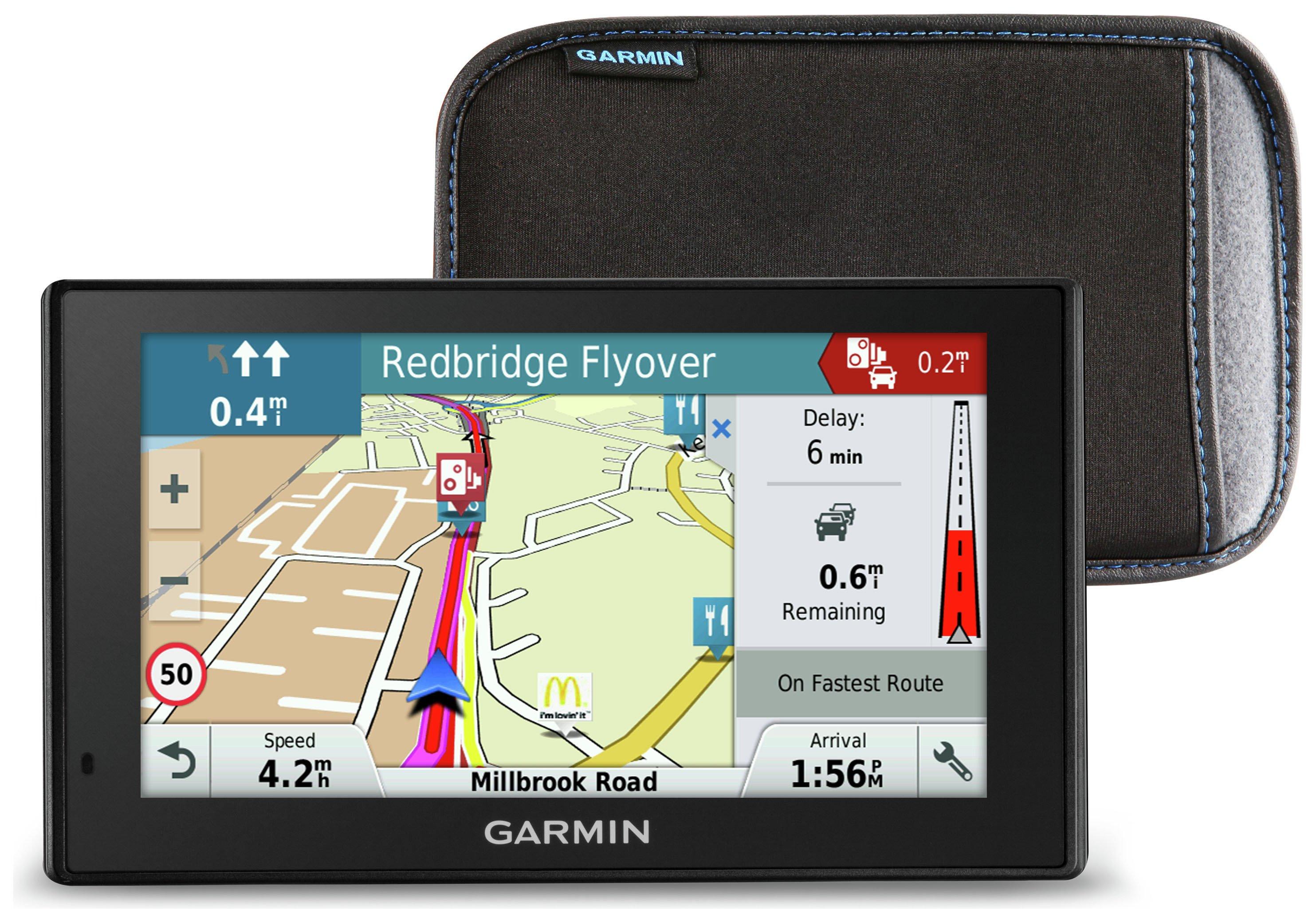 'Garmin - Sat Nav - Drivesmart 50mlt-d 5 Inch - Europe Lifetime Maps & Case