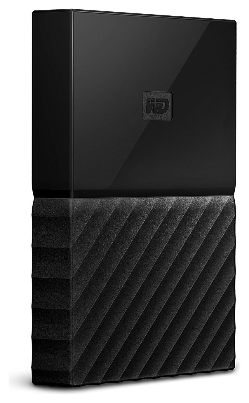 WD My Passport 2TB Portable Hard Drive - Black.