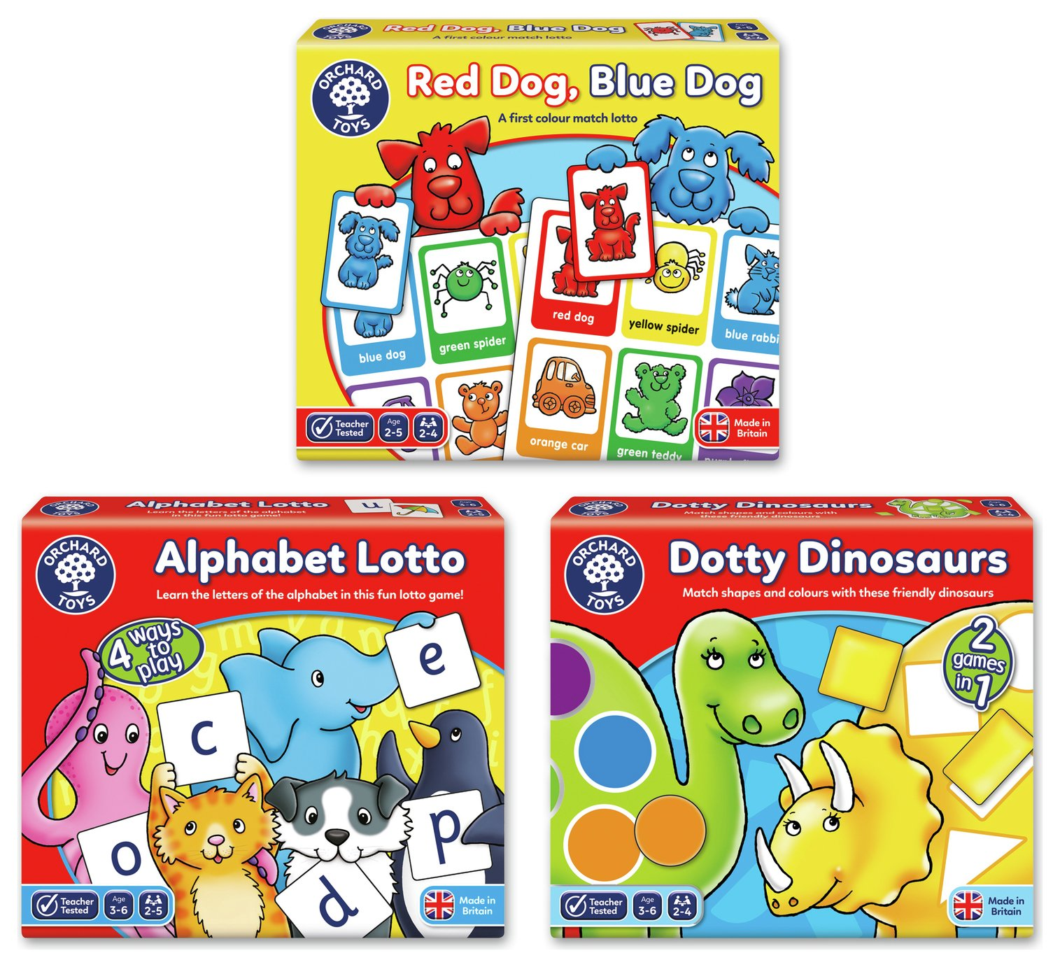 Early Learning Board Games 3 Pack.