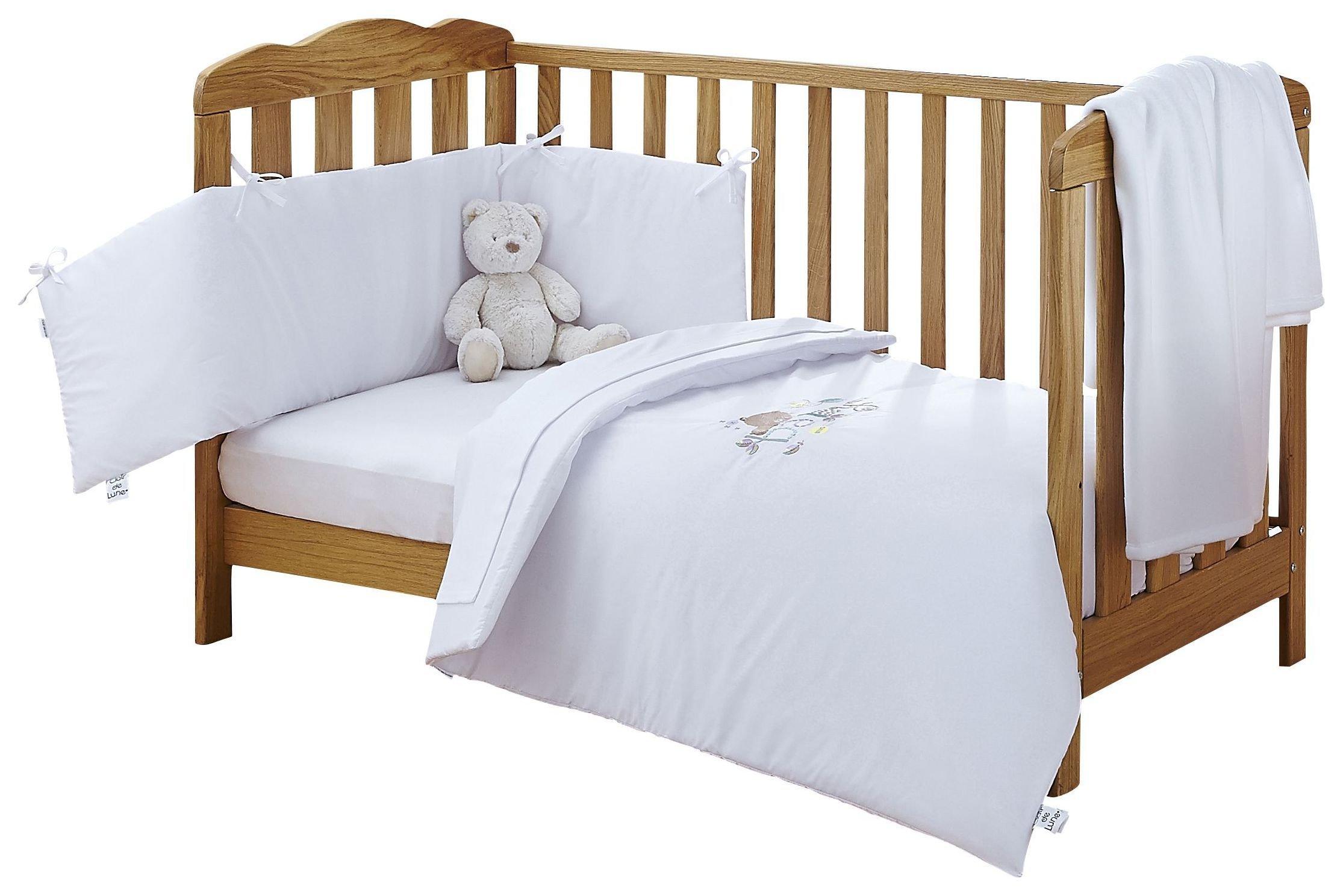 Image of Clair De Lune Baby Cot/Cot Bed Quilt & Bumper Set.