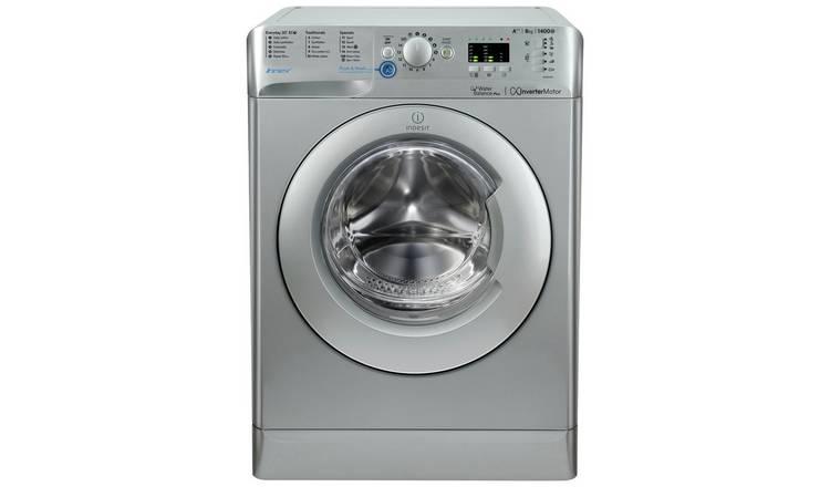 Buy Indesit BWA81483X 8KG 1400 Spin Washing Machine - Silver   Washing  machines   Argos