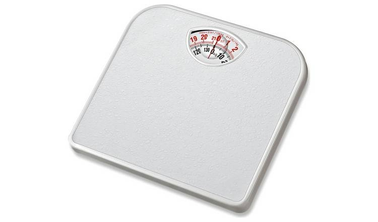 Simple Value Compact Mechanical Bathroom Scale - White