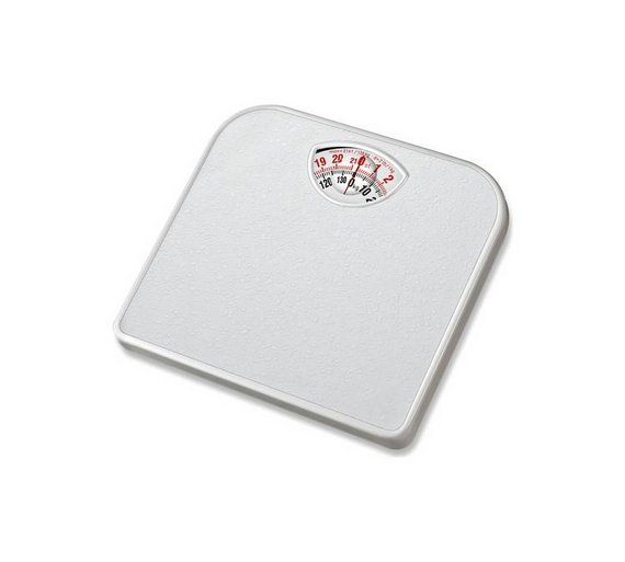 buy simple value compact mechanical bathroom scale white