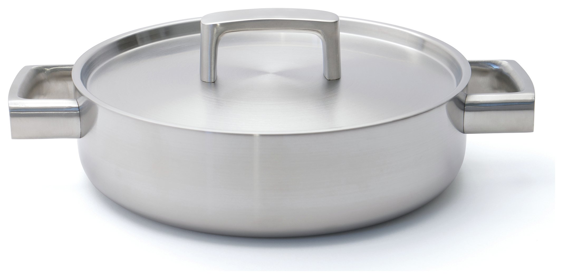 Image of BergHOFF 24cm Stainless Steel 5-Ply Sauteuse Pan.