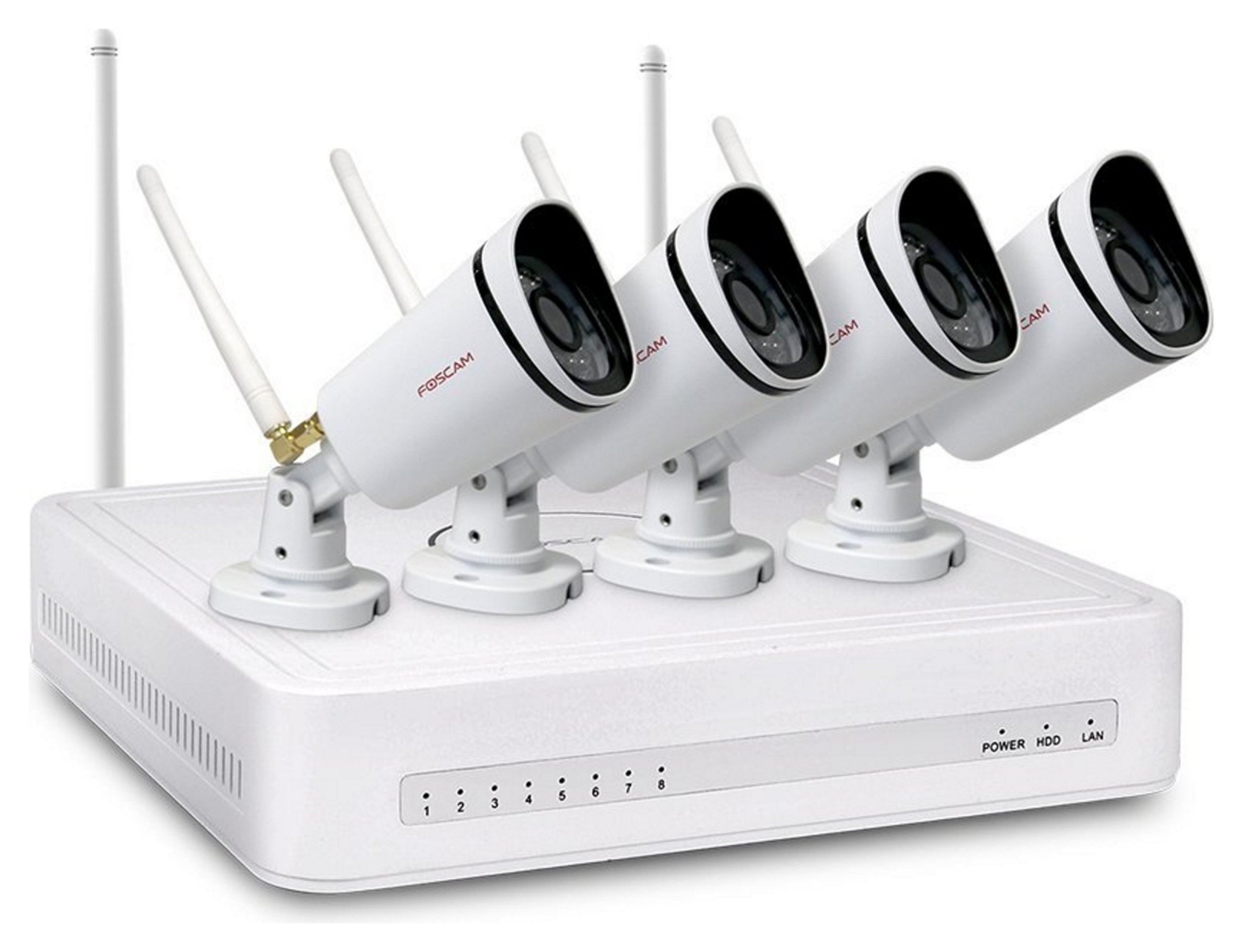Image of Foscam FN3104W B4 Wi-Fi CCTV Security System Kit