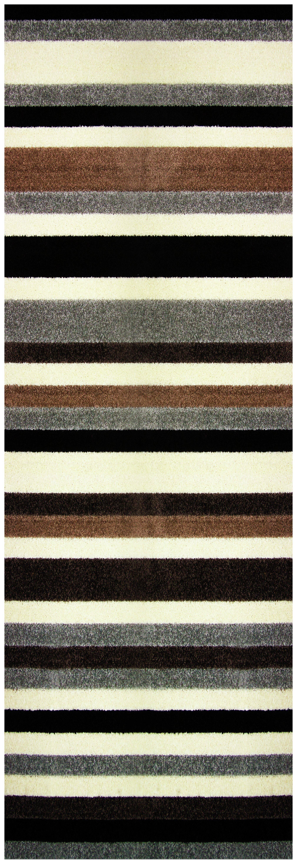 Linea Stripe Washable Runner - 200 x 66cm - Natural.