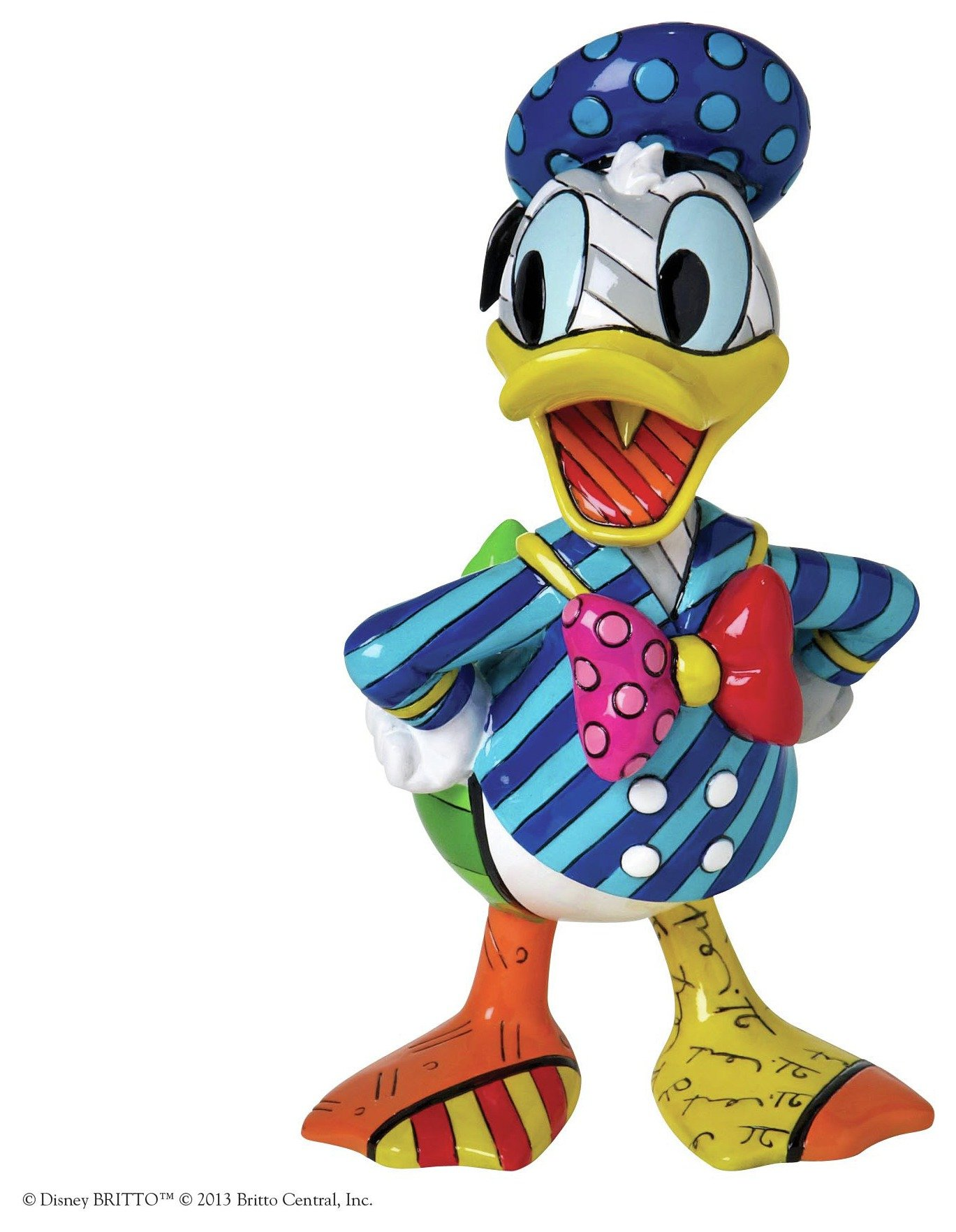 Image of Disney By Britto Donald Duck Figurine.