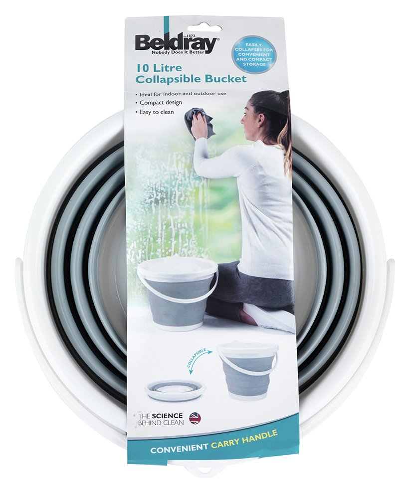 Image of Beldray 10 Litre Collapsible Bucket - Grey.
