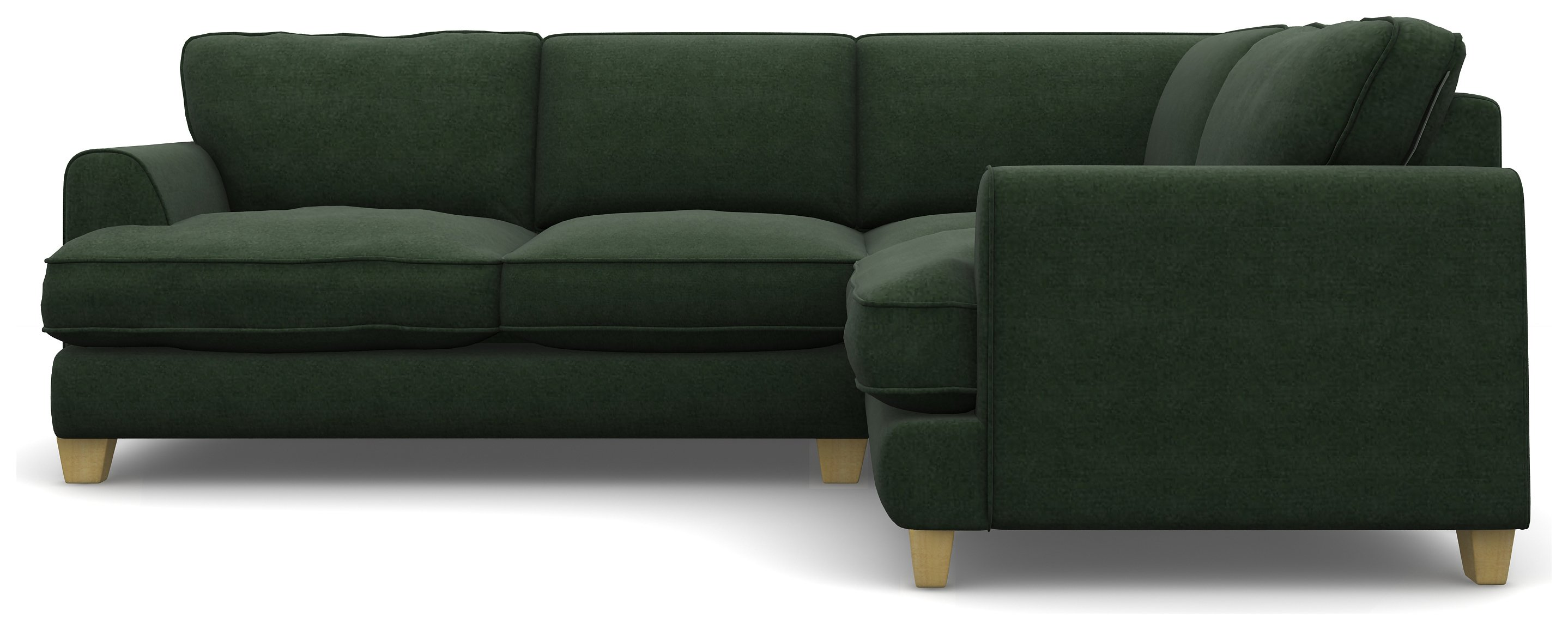 Heart of House Hampstead Right Corner Sofa - Forest Green