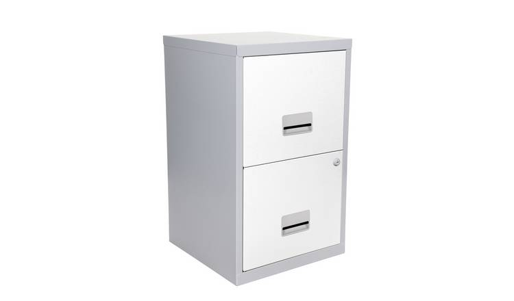 online retailer 406c0 972f3 Buy Pierre Henry 2 Drawer Metal Filing Cabinet - Silver & White | Filing  cabinets and office storage | Argos