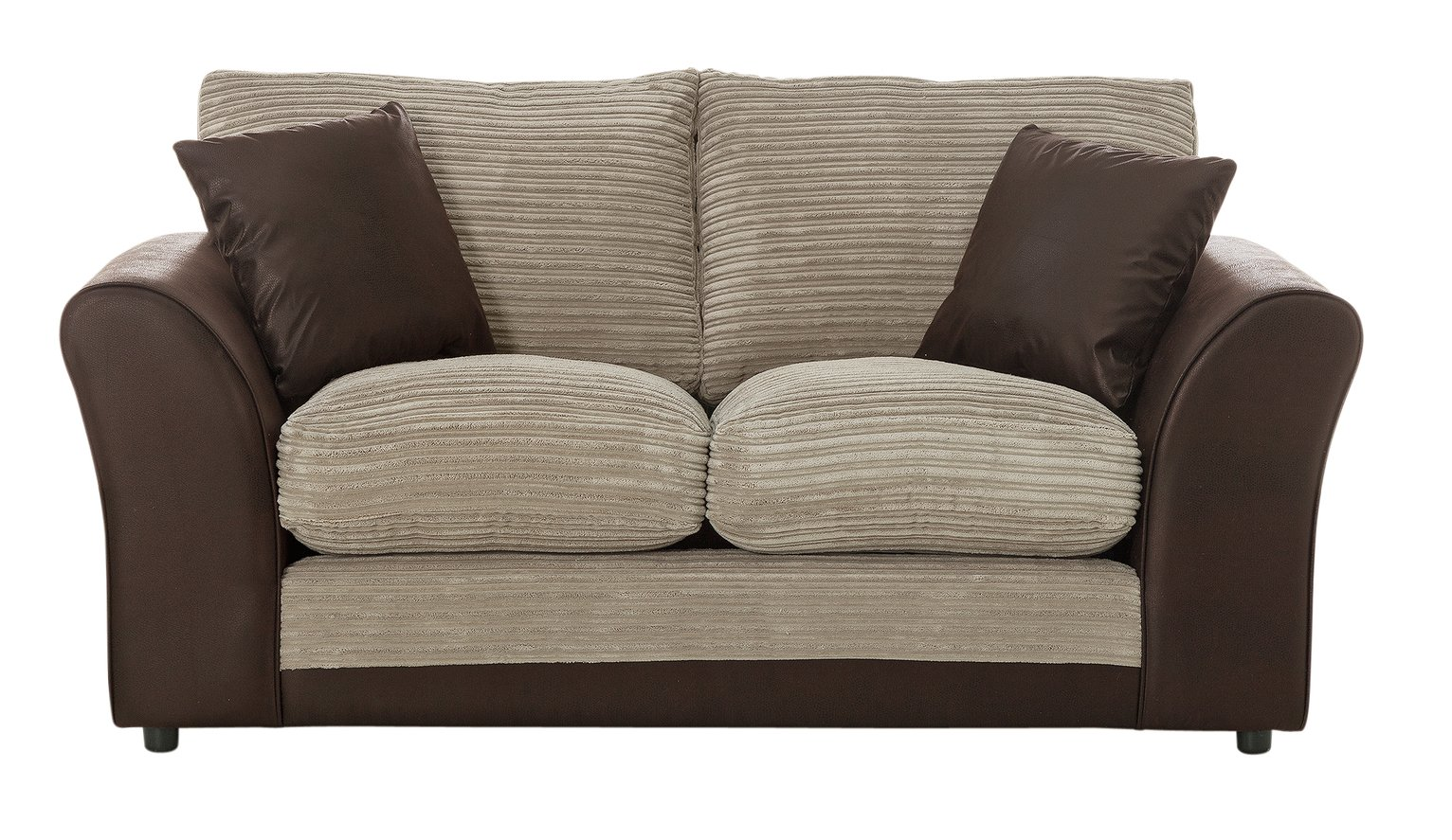 HOME - Harley 2 Seater - Fabric Sofa - Natural