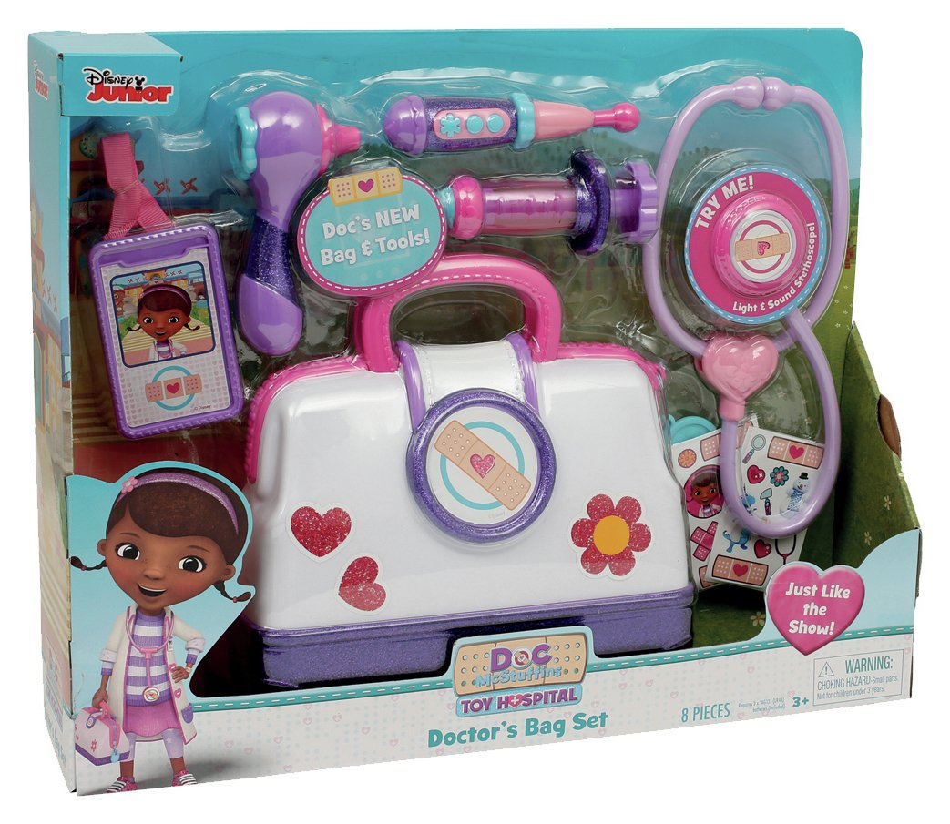 Image of Doc McStuffins Toy Hospital Bag Playset.