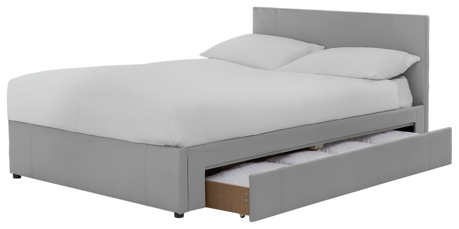Buy Hygena Keating 1 Drawer Grey Bed Frame - Double | Bed frames ...