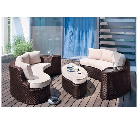 Buy Argos Home 6 Seater Rattan Effect Sofa Set Garden Table And