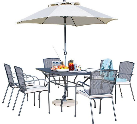 Buy Collection Miami Seater Mesh Patio Furniture Set At Argos Co