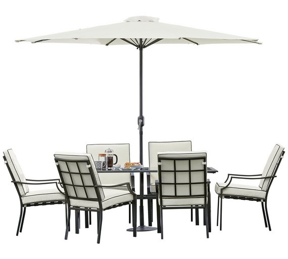 6 Seater Garden Furniture Buy collection barcelona 6 seater metal patio set garden table and collection barcelona 6 seater metal patio set workwithnaturefo