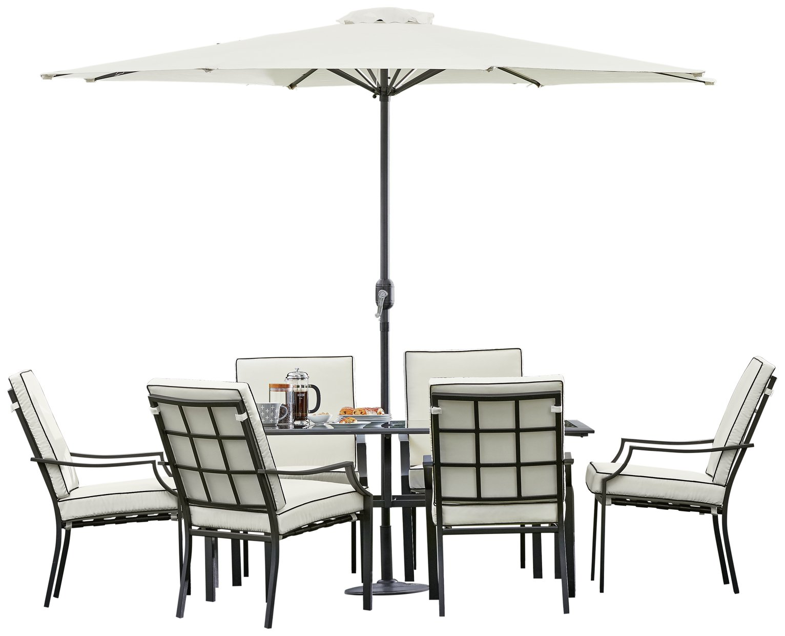 Collection Barcelona 6 Seater Patio Furniture Set