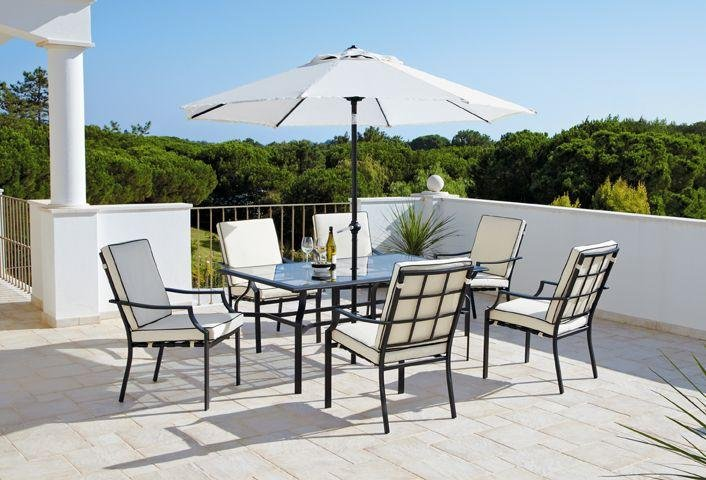 Garden Furniture 6 Chairs buy collection barcelona 6 seater patio furniture set at argos.co