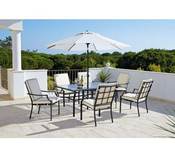 buy collection barcelona 6 seater patio furniture set at argoscouk your online shop for garden table and chair sets garden furniture home and garden