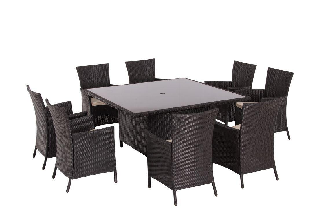 Garden Furniture 8 Seater buy bali rattan effect 8 seater patio furniture set - brown at