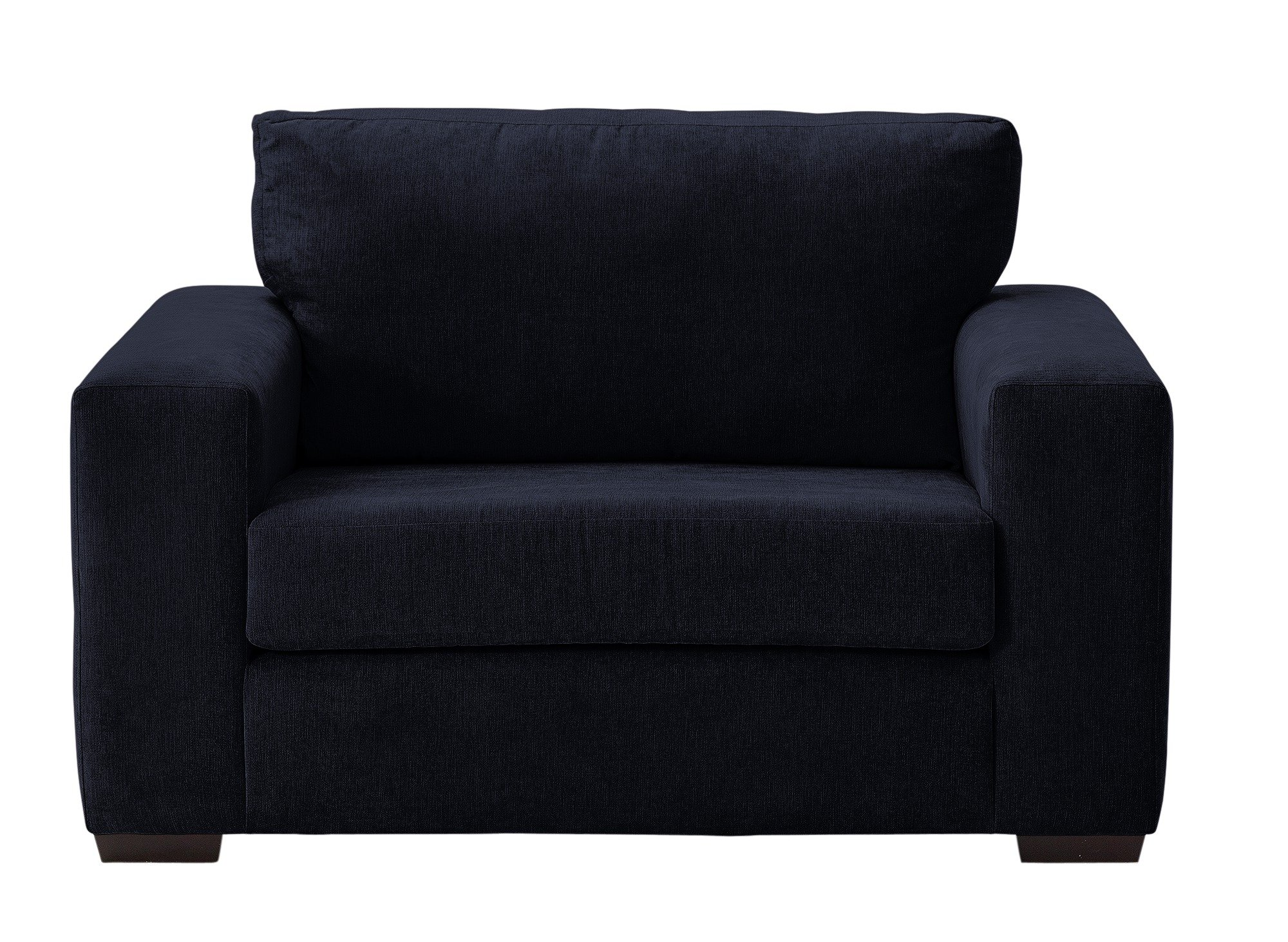 Argos Home Eton Fabric Cuddle Chair - Black