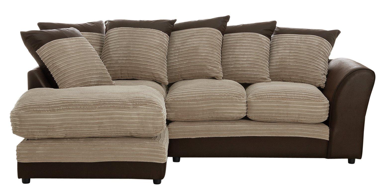 'Home - Harley Regular - Fabric Left Hand Corner Sofa - Natural