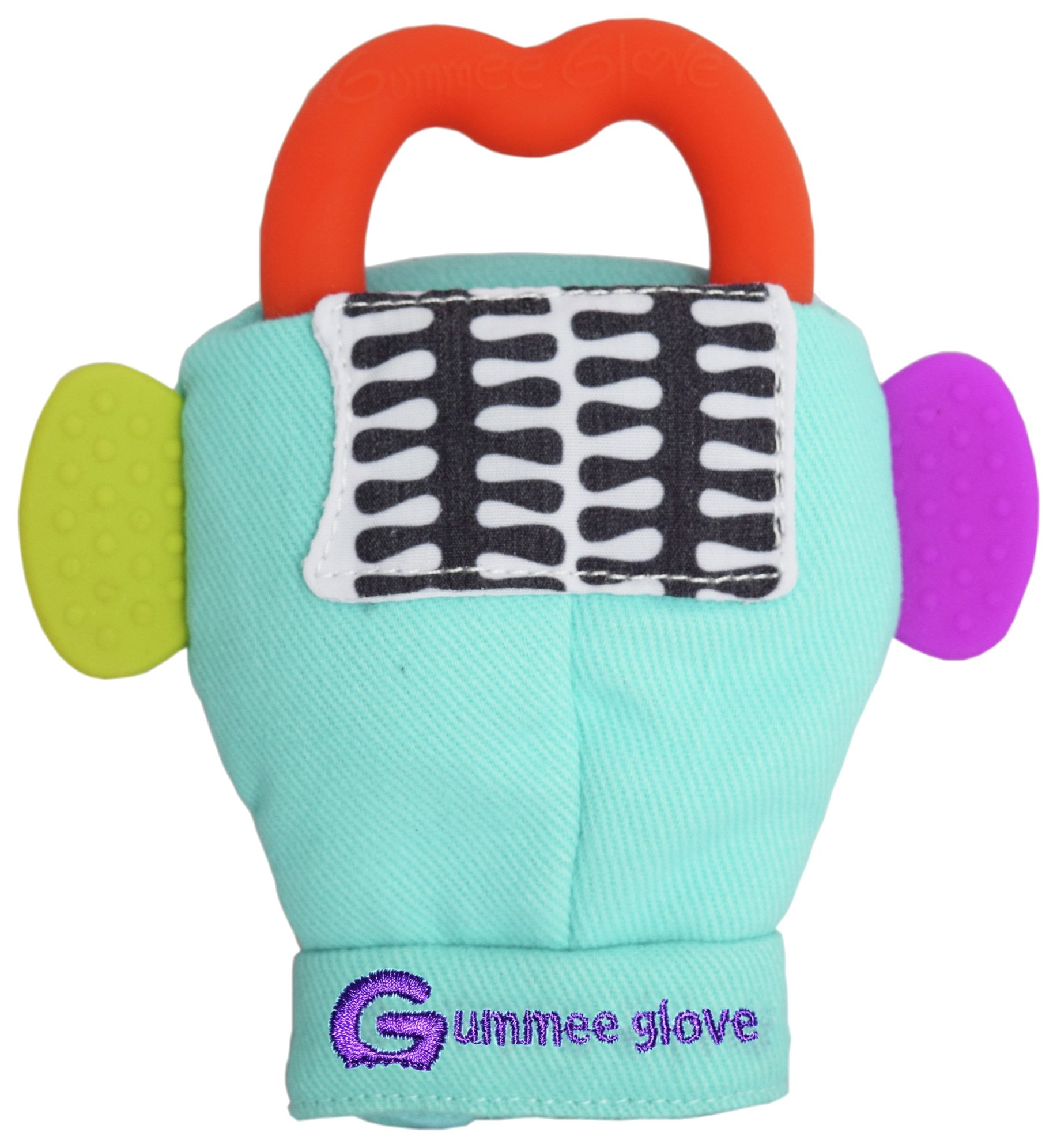 Image of Gummee Glove Teething Mitten - Turquoise