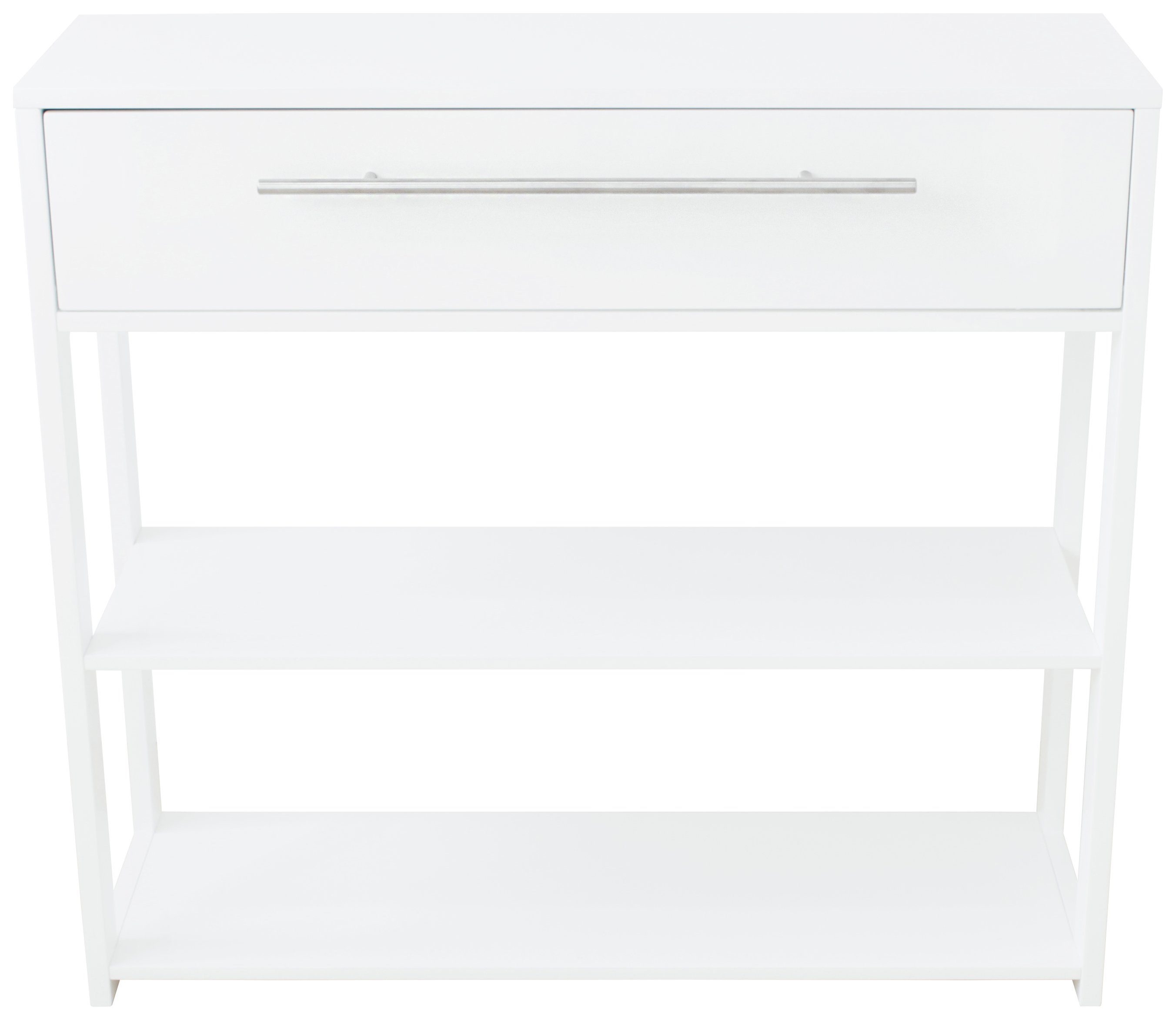 hygena lydiard gloss console table white