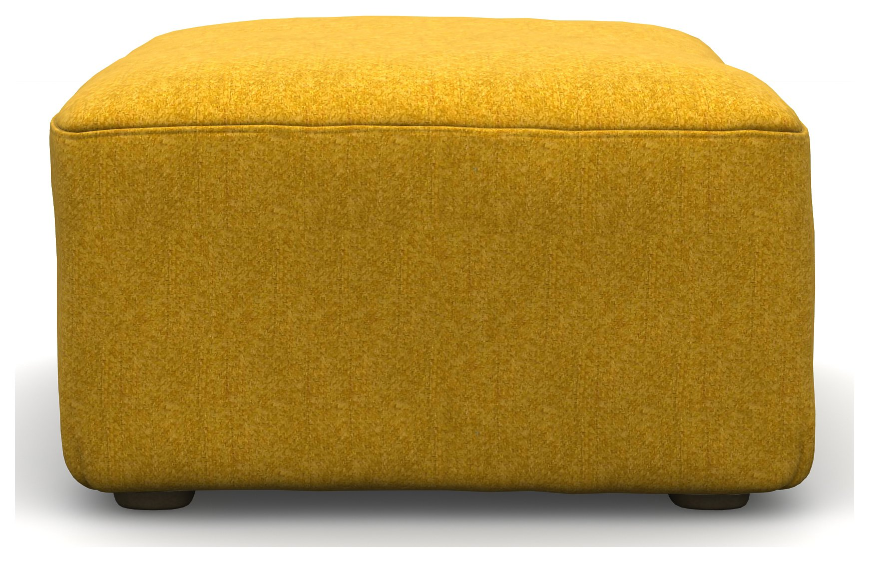 Heart of House Chedworth Tweed Footstool - Saffron Yellow