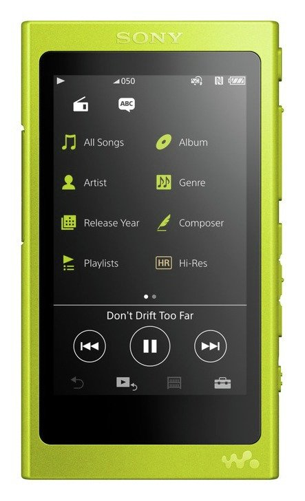 Sony Sony NWA35 Walkman High Resolution 16GB MP3 Player - Yellow.